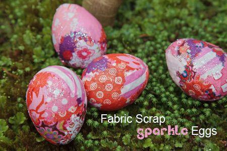 What a fun craft for scrap fabrics!: Crafts Ideas, Sparkle Eggs, Fabrics Scrap, Crafts Projects, Easter Eggs, Eggs Crafts, Scrap Fabrics, Crafty Ideas, Easter Ideas