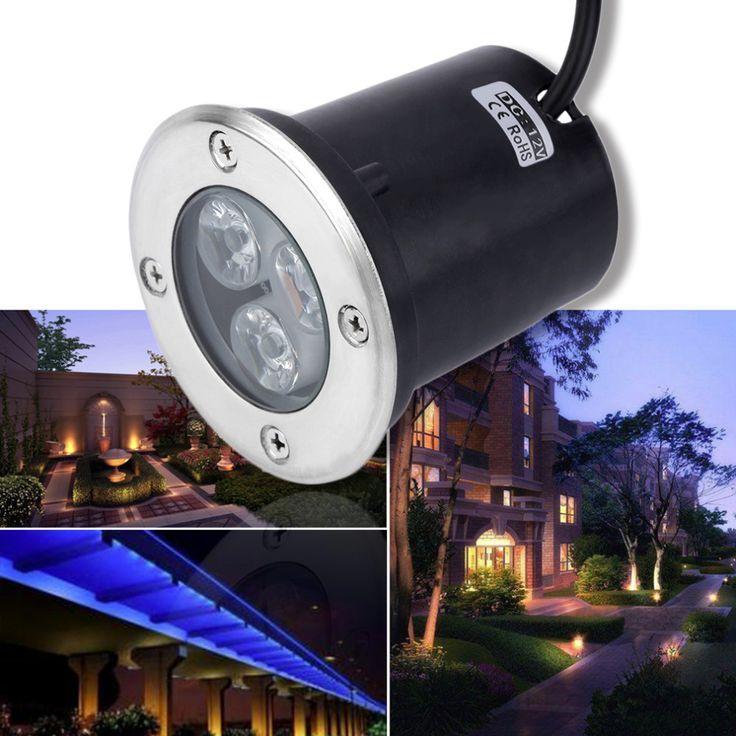 new 3w led waterproof outdoor in ground garden path flood landscape light dc 12v worldwide store
