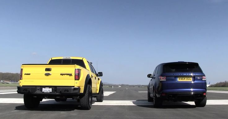 """Top Gear Battle: Ford VelociRaptor versus Range Rover Sport SVR (VIDEO) The most fascinating part of drag racing, is that you can arrive at the starting line with any type of vehicle absolutely important to have enough horsepower to overcome your rivals. And when we refer to """"any"""" means that the SUVs are always welcome. In this regard, Top Gear thought..."""