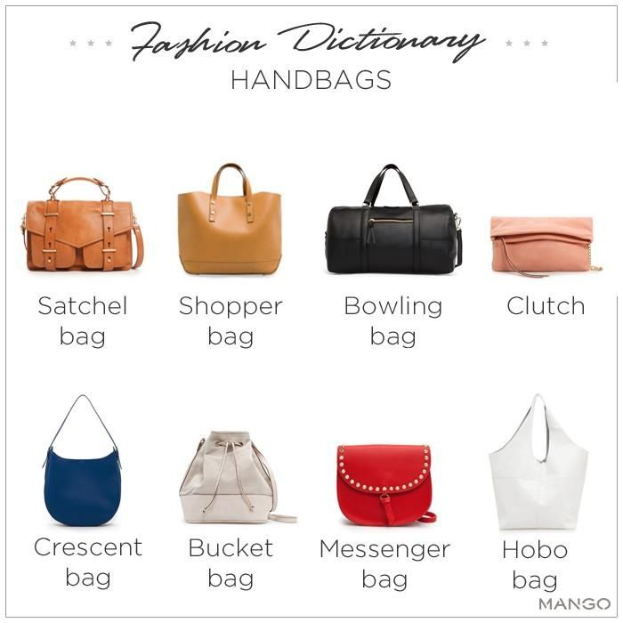 Different Types Of Handbags Here is a list of the most popular forms of handbags carried by women around the world.