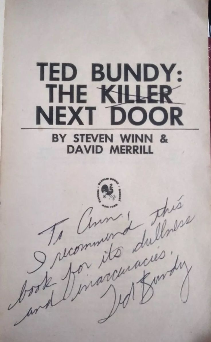 a biography of ted bundy a serial killer Rhonda stapley was a young, innocent college student, when she accepted a ride from a handsome stranger little did she know when she got into the tan volkswagen, she was sitting next to one of america's most notorious serial killers – ted bundy.