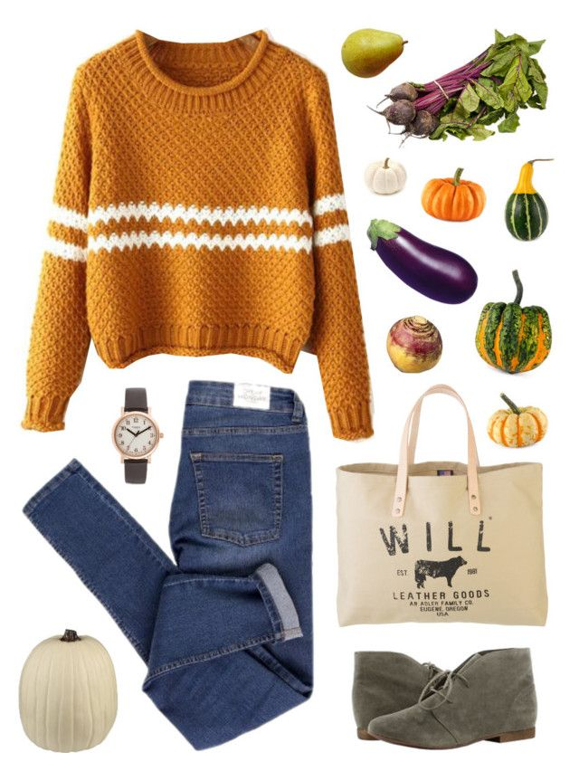 Fall Farmers Market by citruschic on Polyvore featuring Cheap Monday, Breckelle's, Will Leather Goods and Timex