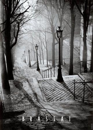 The Steps at Montmartre, Paris, France