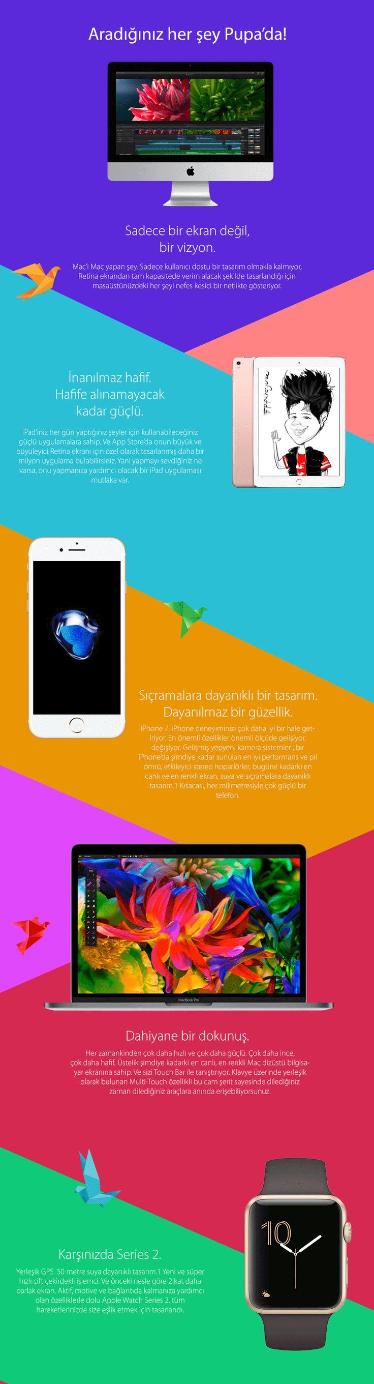 iPhone, iPad, Mac, Apple Watch; Apple ürünleri ile ilgili aradığınız her şey Pupa'da sizleri bekliyor!