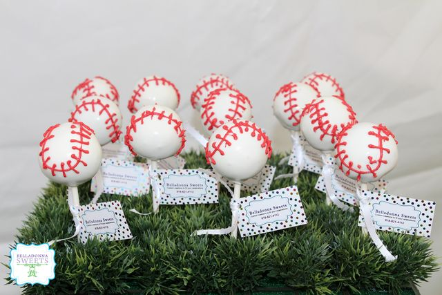 Cake Pops at a Sports Party #sports #party