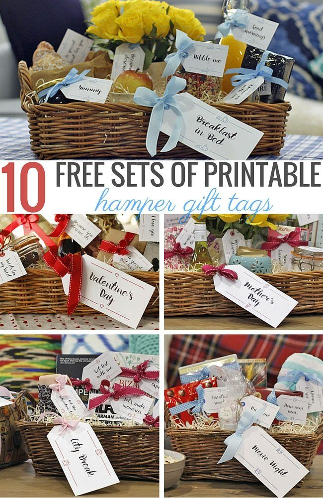10 free sets of printable hamper gift tags for every occasion
