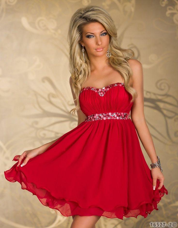 5292 Party Kleid aus Chiffon dress Abendkleid verfügbar in 3 Farben 3 ...