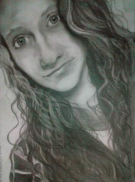 GIRL WITH LONG HAIR #art #blackandwhite #draw #girl #hair