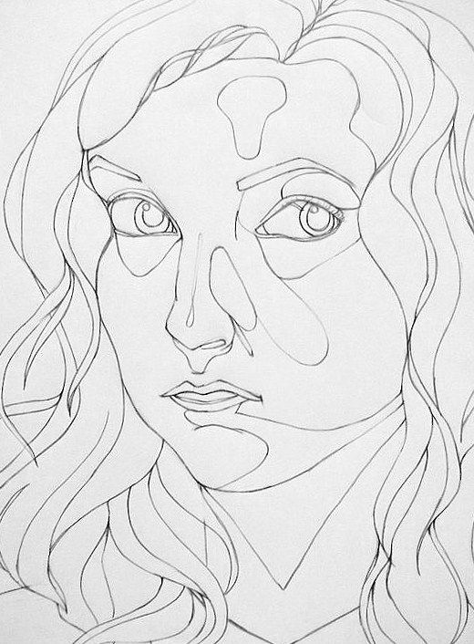 Contour Line Drawing Face : Best contour drawings images on pinterest