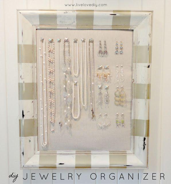 DIY Jewelry Organizer...make it yourself!