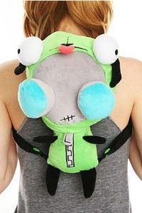 Invader Zim Gir Costume Plush Backpack   review   Kaboodle