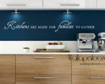 Arte de pared de cocina - cocinas están hechas para las familias de la pared calcomanía - familia etiqueta de la pared - decoración de la pared etiqueta de la cocina - decoración de la cocina - cocina
