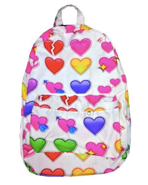 Assorted accessory interpretation #3: Heart emoticon back pack.  The newer generation has had access to emoticons for so long, and they can even express their feelings of sassiness, sadness, and joy through their accessories.