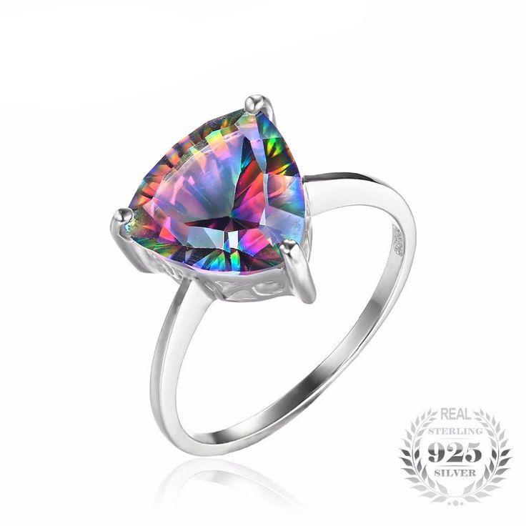 Natural Rainbow Fire Mystic Topaz Ring - Lehenherr