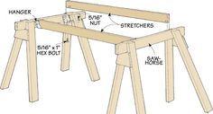 Knock-Down-Arbeitsunterstützung. Perfekt für gelegentliche Holzarbeiten ohne …
