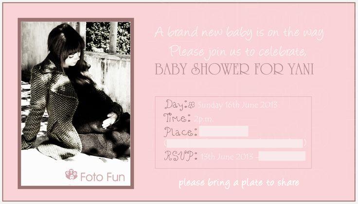 Yani´s Baby shower card. Photo & Design by PT´s Foto Fun