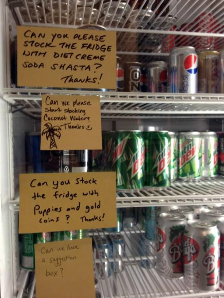 oh the office fridge