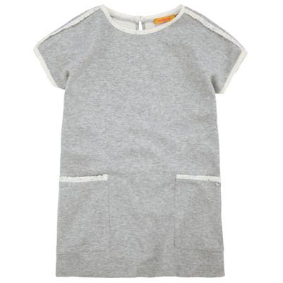 Mottled grey jersey dress