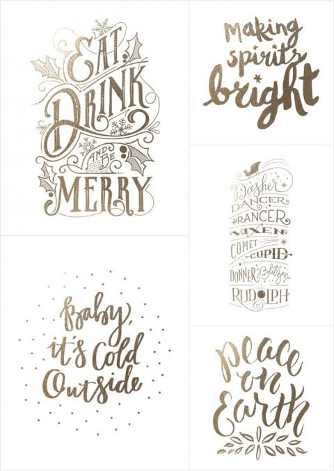 Holiday Foil-Stamped Wall Art from minted *Love this Christmas collection