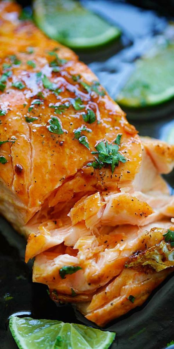Honey Lime Salmon – sweet and zesty salmon with honey, lime juice and soy sauce. Takes 15 mins and great for tonight's dinner   http://rasamalaysia.com
