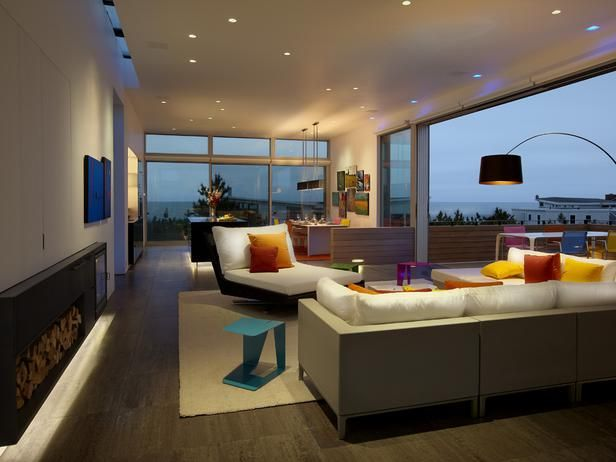 Contemporary Living Rooms from Joelle NesenBeach House, Spg Architects, Interiors Design, Walks House, Modern Living Room, Fire Islands, New York, Design Style, Beach Walks