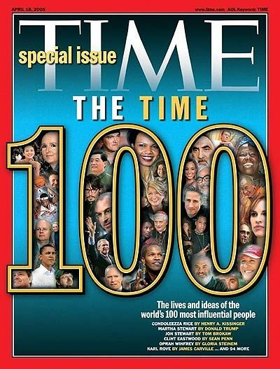 TIME Magazine -- U.S. Edition -- April 18, 2005 Vol. 165 No. 16 Marc Newson Named in top 100 most Influential people in 2005.