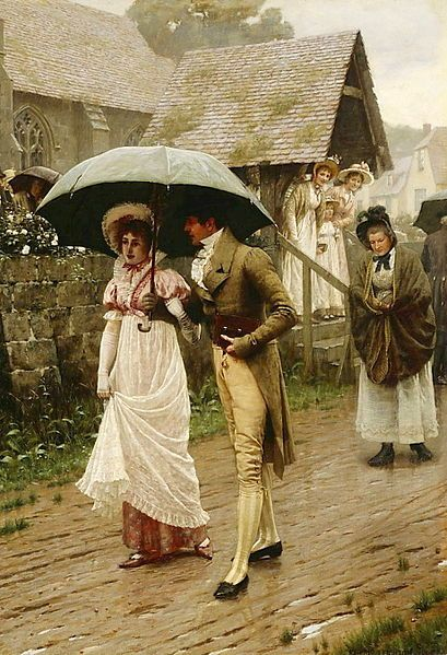 """""""A Wet Sunday Morning"""" by Edmund Blair Leighton  