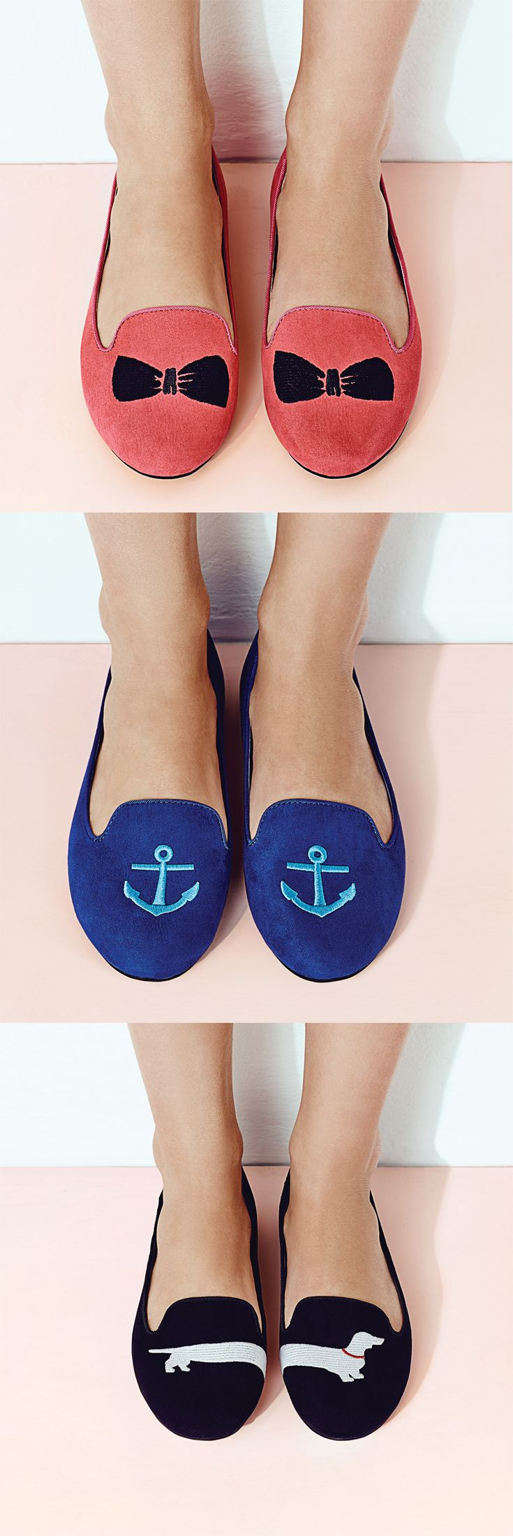 Add some springtime character to your shoes with a fun bow or anchor print