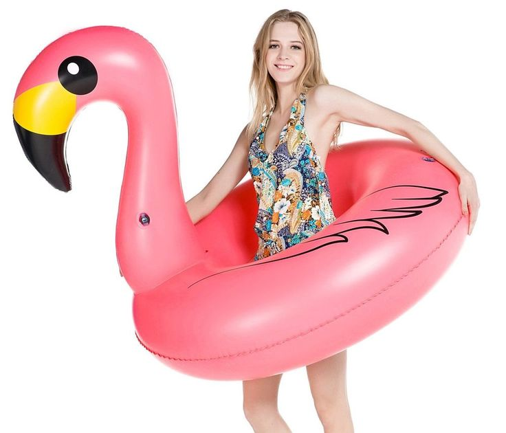 Jasonwell Giant Inflatable Flamingo Pool Float Party Tube with Rapid Valves Summ #Jasonwell
