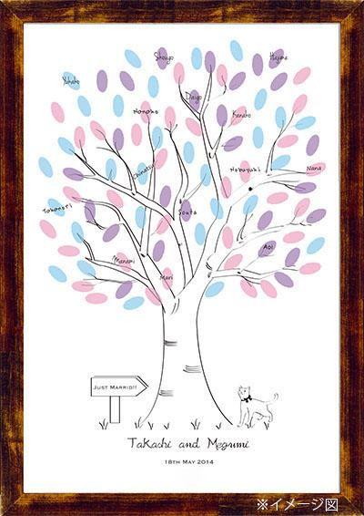 Wedding Tree 【Cat】Finger Print ウエディングツリー ねこ|その他 結婚式ペーパーアイテムや披露宴のパンフレット形の席次表など。こだわりブライダルのお手伝いトゥルーハートイズプット。