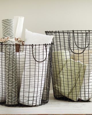 Round Wire Baskets - storage for balls and swimming noodles and all things awkward in size but always needs to be accessible