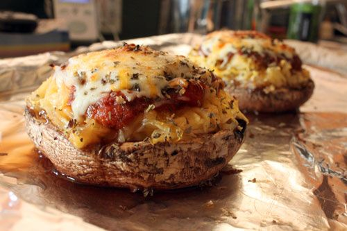 Spaghetti Squash and Portobello Mushroom Pizza | Free Recipe Network