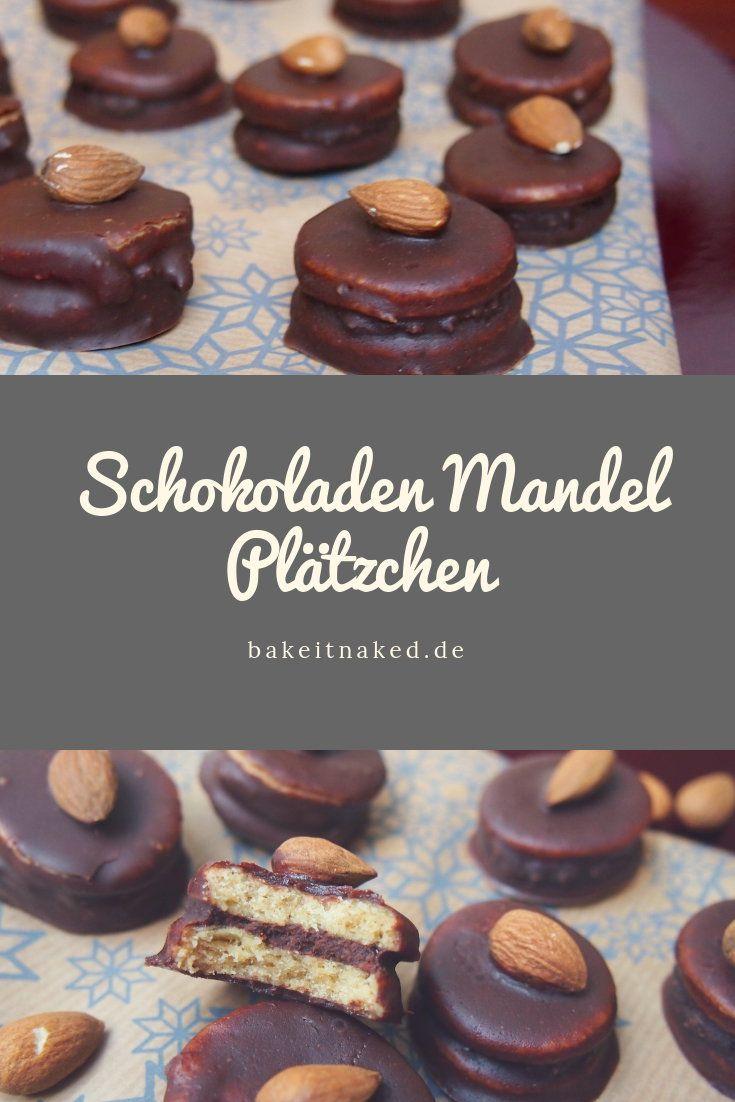 Schokoladen Weihnachtskekse.Sckokoladen Mandel Plätzchen Weihnachtskekse Rezept