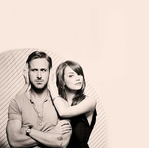 Ryan Gosling & Emma Stone. I love how ryan is my crush and emma is Joey's.