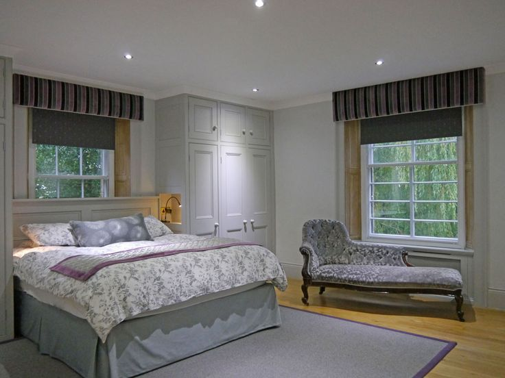 Hello grey bedroom, how gorgeous are you?!  Flooded with light in the daytime and cosy as a dormouse nest at nighttime! Fitted wardrobes by Dunham Fitted Furniture.