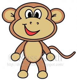 the lesson will help you to learn how to draw a simple cartoon monkey you
