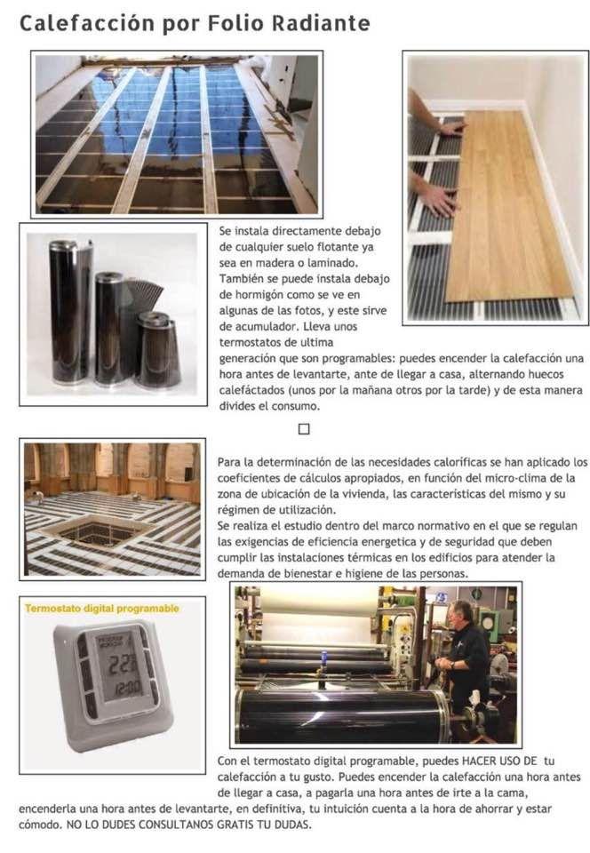 551 best ideas para el hogar images on pinterest flooring underfloor heating and for the home - Folio radiante electrico ...