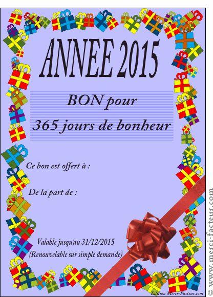 Carte Bon pour 365 jours de bonheur pour envoyer par La Poste, sur Merci-Facteur !