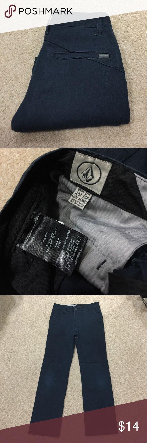"Boy's VOLCOM Pants Boy's Dark Blue, VOLCOM Pants, Size 22/8. ""Fricken Modern Stretch Pant."" Cotton Blend. Good condition.   20% off 3+ items in my closet  Bundle & Save! Volcom Bottoms Casual"