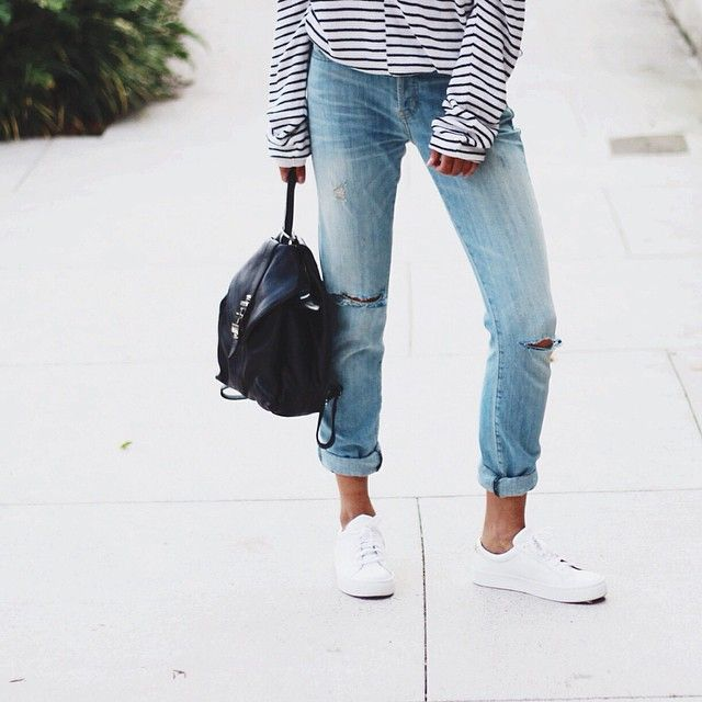 Same same every day... Jeans and kicks and stripes  // @windsorsmith @dylan_kain #currentelliott
