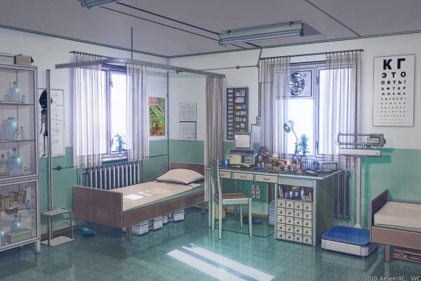 this one kinda looks like the health unit in my junior high school back then. that memory tho