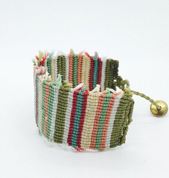 Macrame bracelet Woven bracelet Bangles by IsminisHeartmade