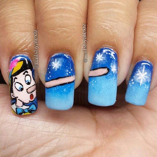 pinocchio  by nailsbyalexiz  #nail #nails #nailart