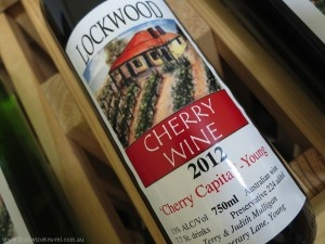 Cherry Wine made by Lockwood in the Hilltops wine region, Young, NSW, Australia