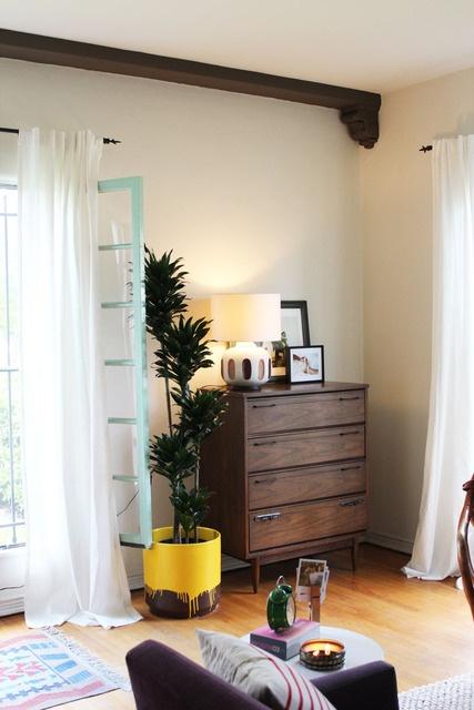 Drip painted pot as home #decor aceent. #DIY