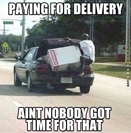 Paying for delivery