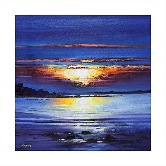 Art Prints Gallery - Midsummer Sunset (Limited Edition), £135.00 (http://www.artprintsgallery.co.uk/Davy-Brown/Midsummer-Sunset-Limited-Edition.html)