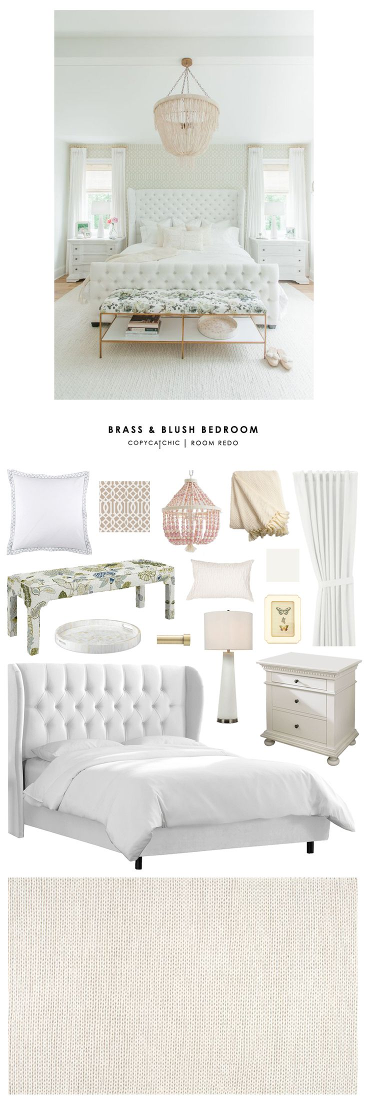 Copy Cat Chic Room Redo | Brass and Blush Bedroom | Copy Cat Chic | Bloglovin' More