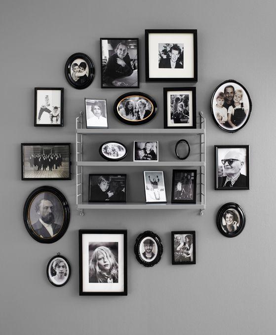 olika ramar. alla foton och ramar i svartvitt