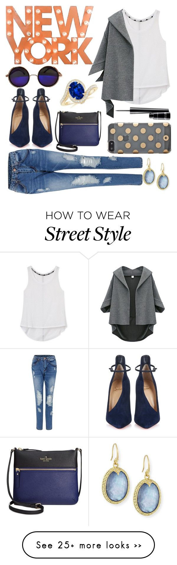 """""""Street Style"""" by jeesxx on Polyvore featuring Dot & Bo, Kate Spade, Rebecca Minkoff, Christian Louboutin, Armenta and MAC Cosmetics"""